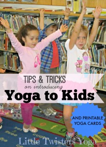 Group Tree Pose_Cover for Pinterest _Tips and Tricks for Introducing Yoga to Kids